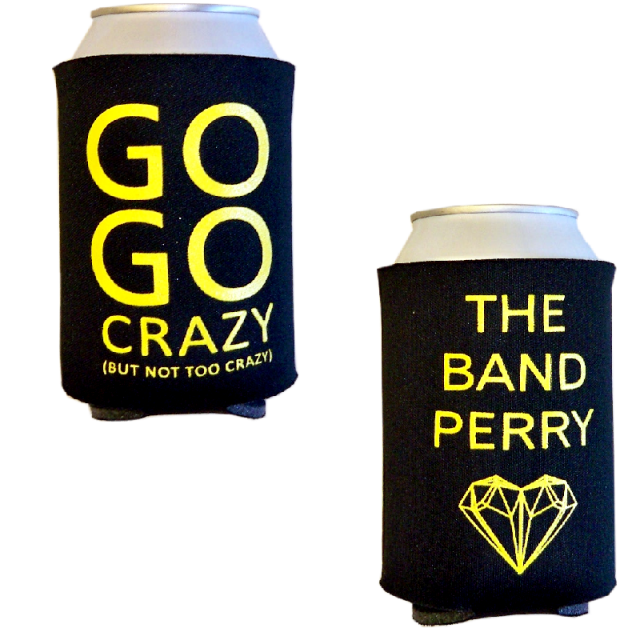 The Band Perry Black Go Go Crazy Koozie